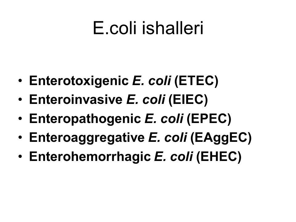 E.coli ishalleri Enterotoxigenic E. coli (ETEC)
