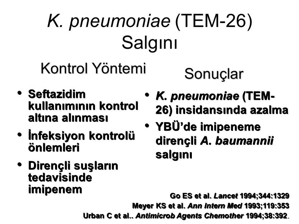 K. pneumoniae (TEM-26) Salgını