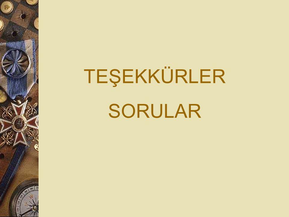 TEŞEKKÜRLER SORULAR 100