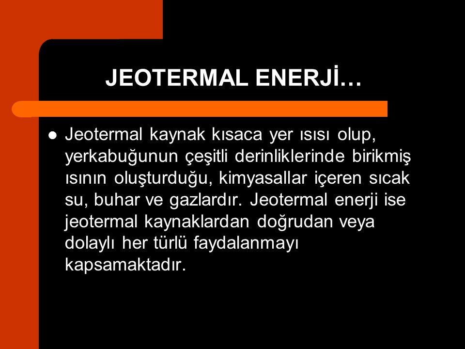 JEOTERMAL ENERJİ…