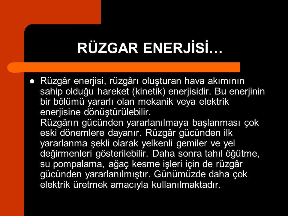 RÜZGAR ENERJİSİ…