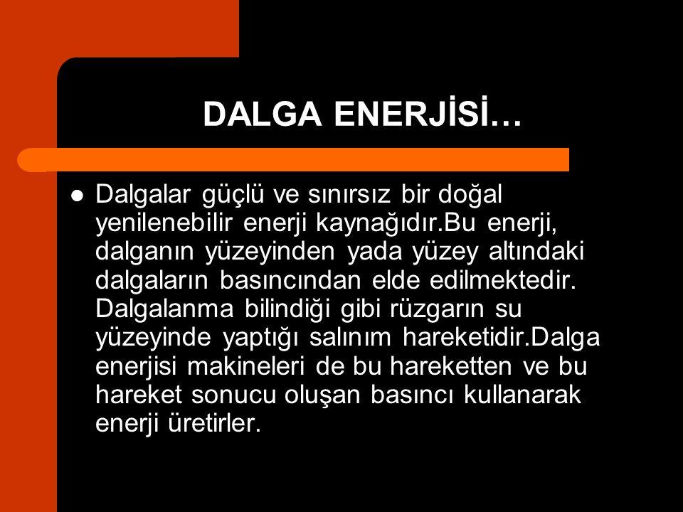 DALGA ENERJİSİ…