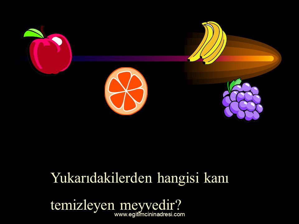Yukarıdakilerden hangisi kanı temizleyen meyvedir