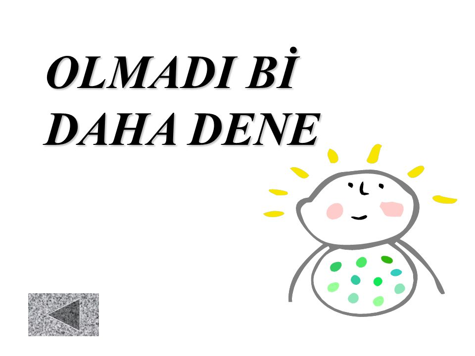 OLMADI Bİ DAHA DENE