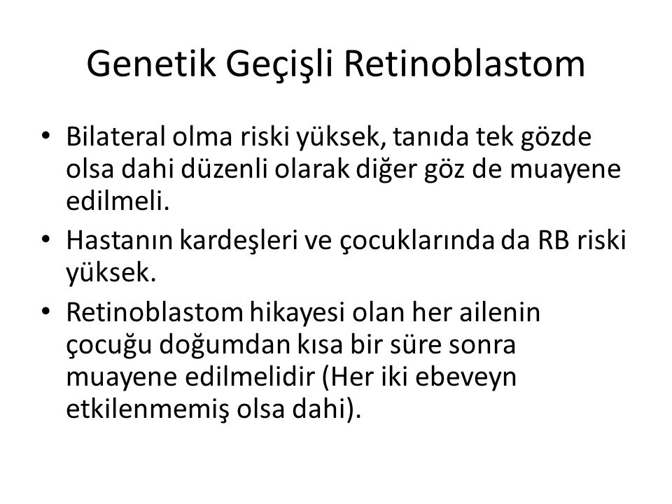 Genetik Geçişli Retinoblastom