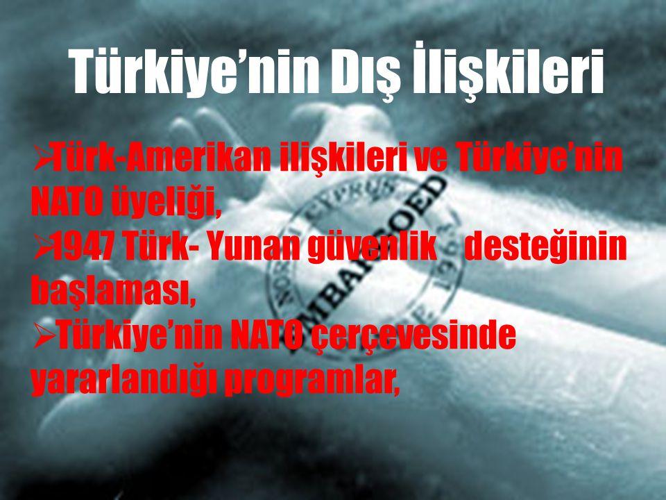 Türkiye'nin Dış İlişkileri