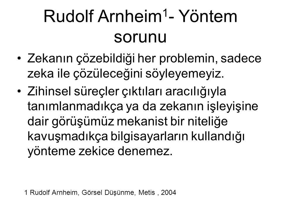 Rudolf Arnheim1- Yöntem sorunu