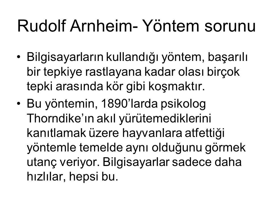 Rudolf Arnheim- Yöntem sorunu