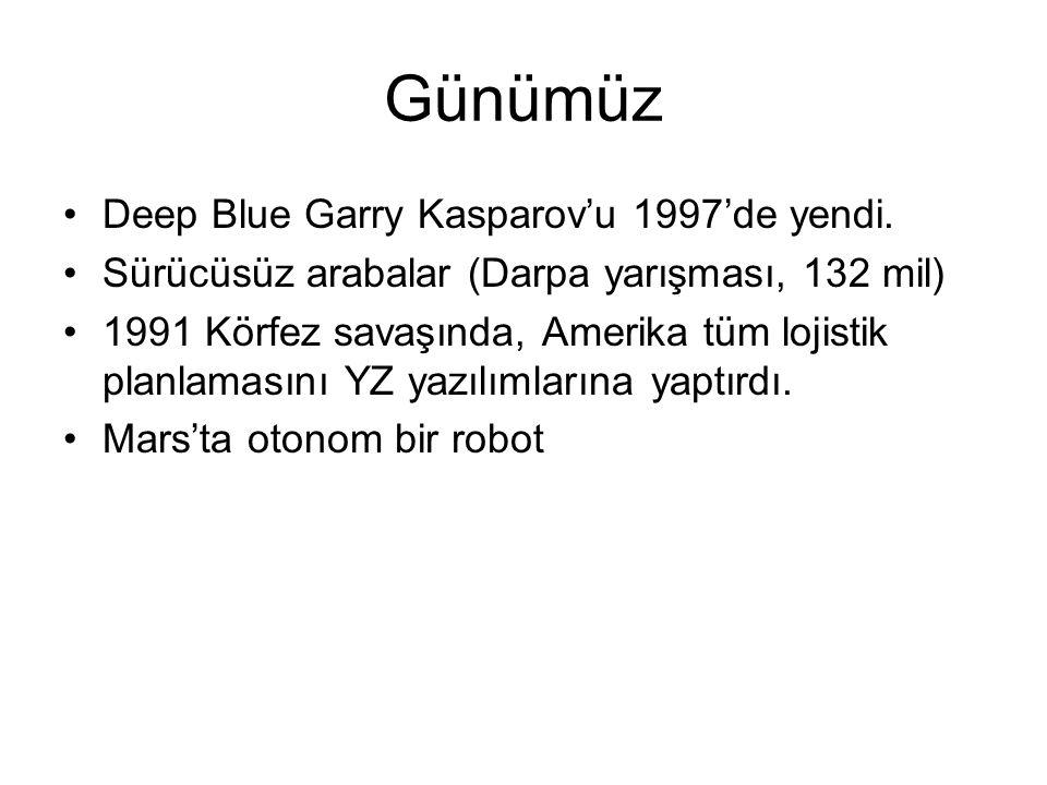 Günümüz Deep Blue Garry Kasparov'u 1997'de yendi.