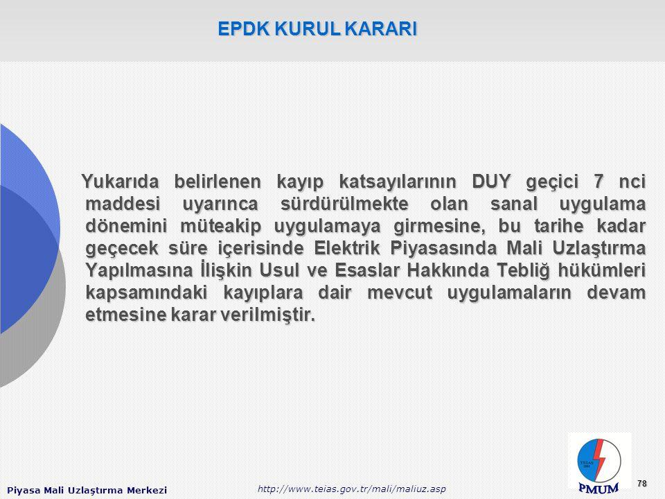 EPDK KURUL KARARI