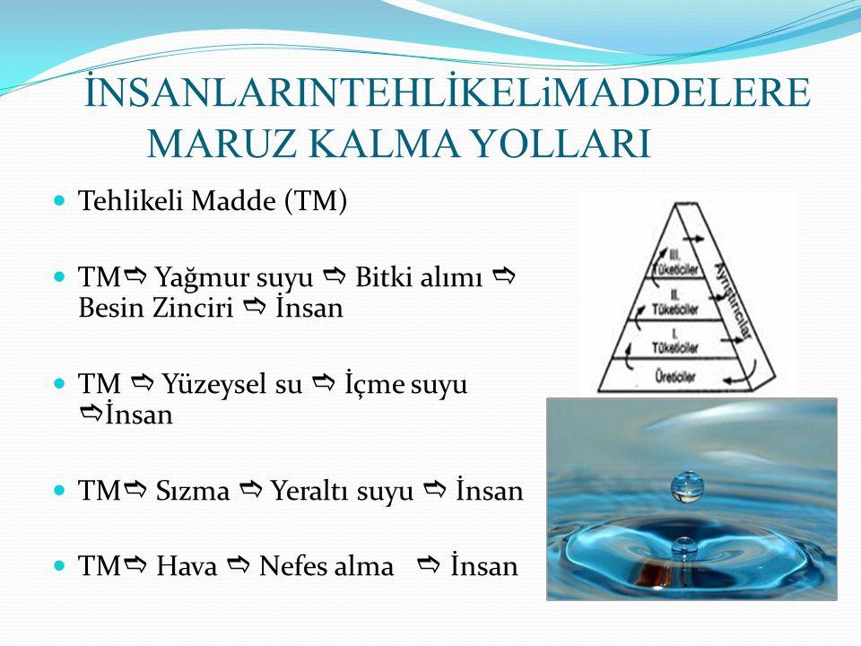 İNSANLARINTEHLİKELiMADDELERE MARUZ KALMA YOLLARI