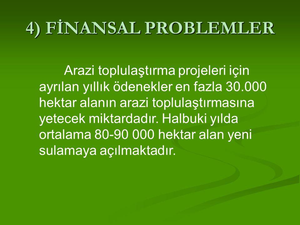 4) FİNANSAL PROBLEMLER