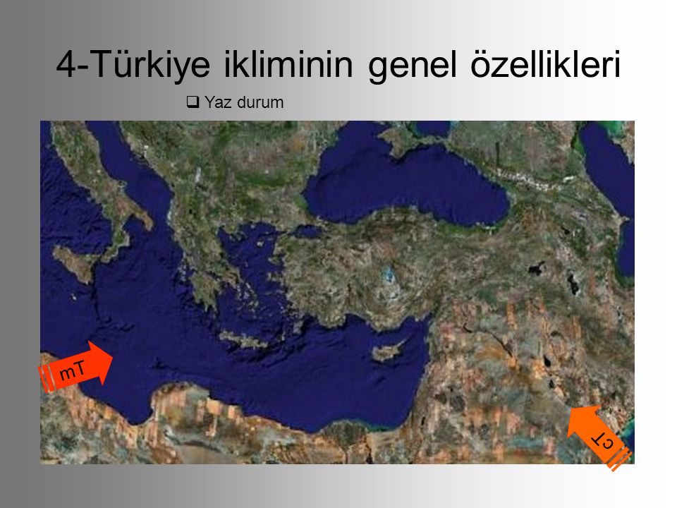 4-Türkiye ikliminin genel özellikleri