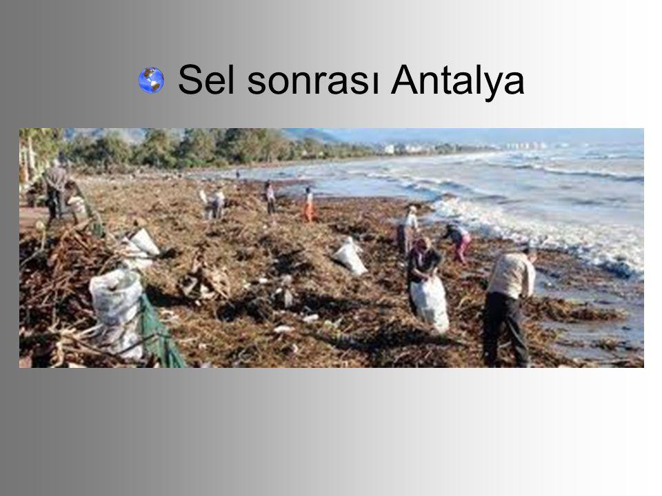 Sel sonrası Antalya