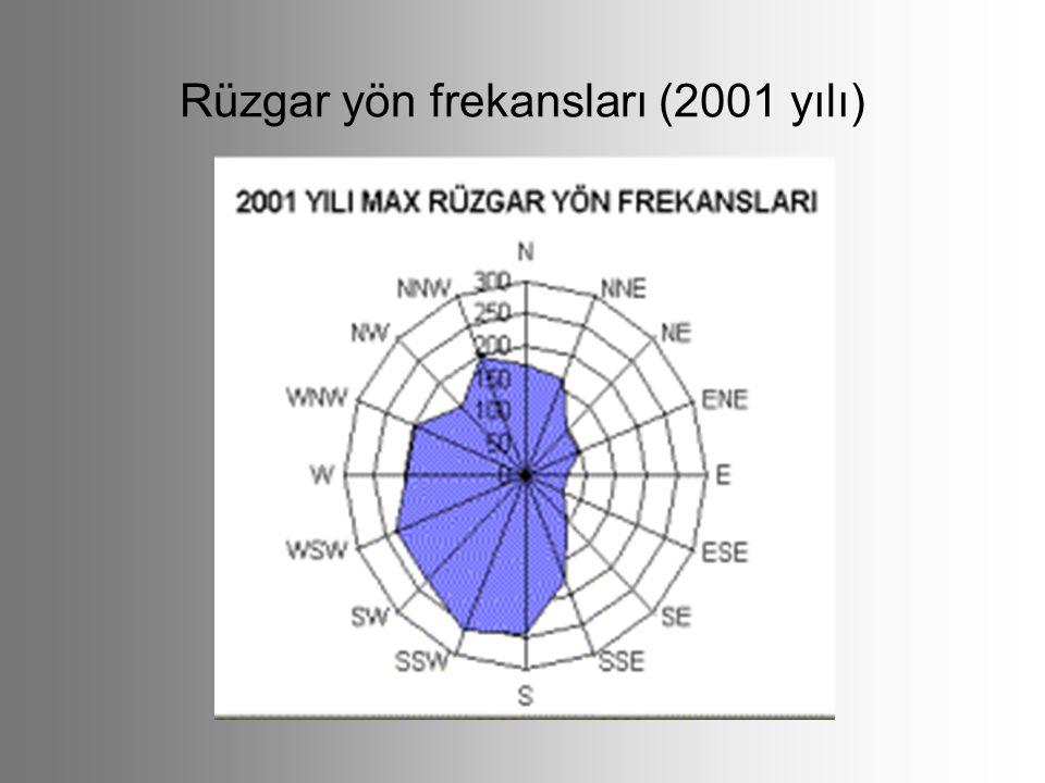 Rüzgar yön frekansları (2001 yılı)