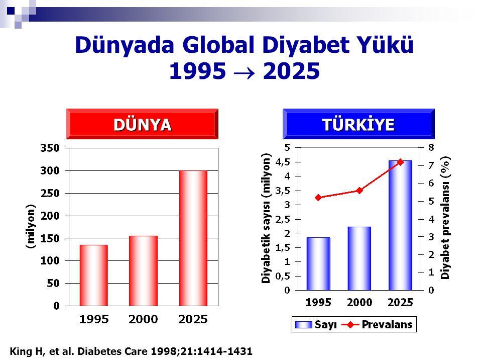 Dünyada Global Diyabet Yükü 1995  2025