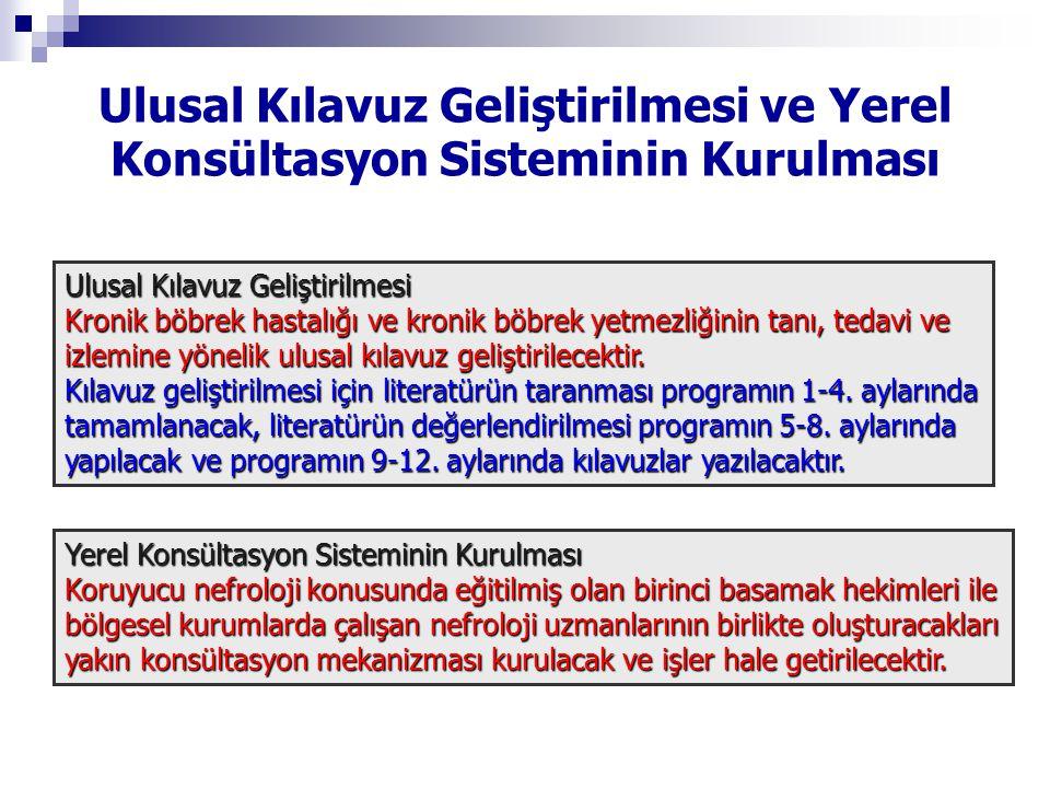 Ulusal Kılavuz Geliştirilmesi ve Yerel Konsültasyon Sisteminin Kurulması