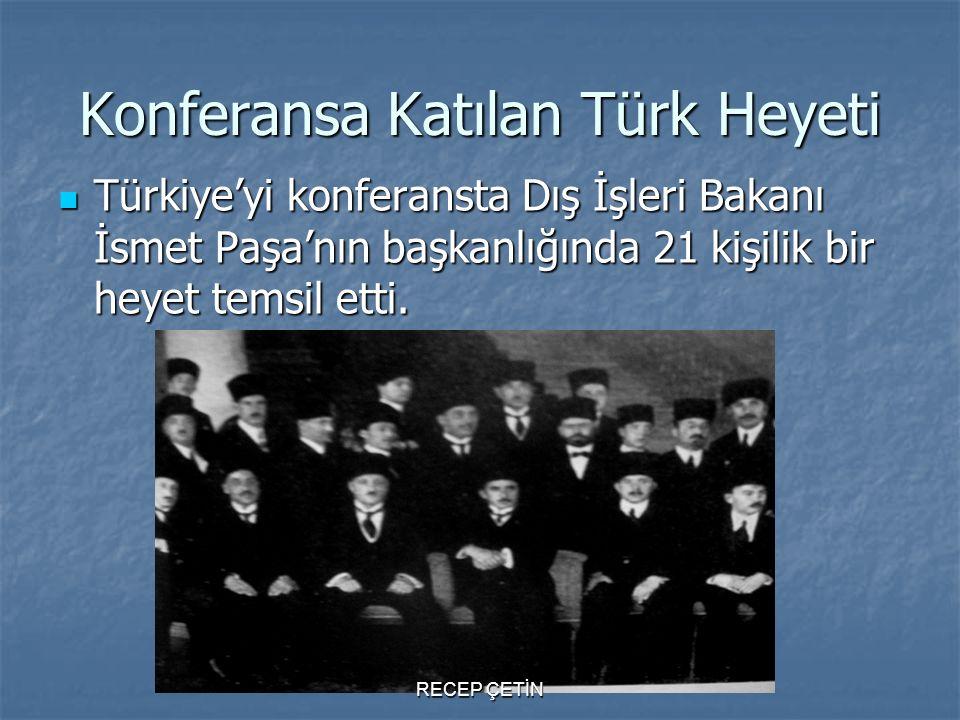 Konferansa Katılan Türk Heyeti