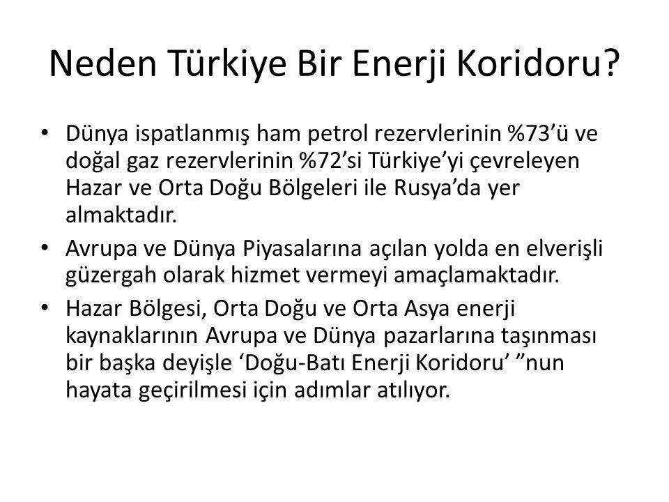 Neden Türkiye Bir Enerji Koridoru