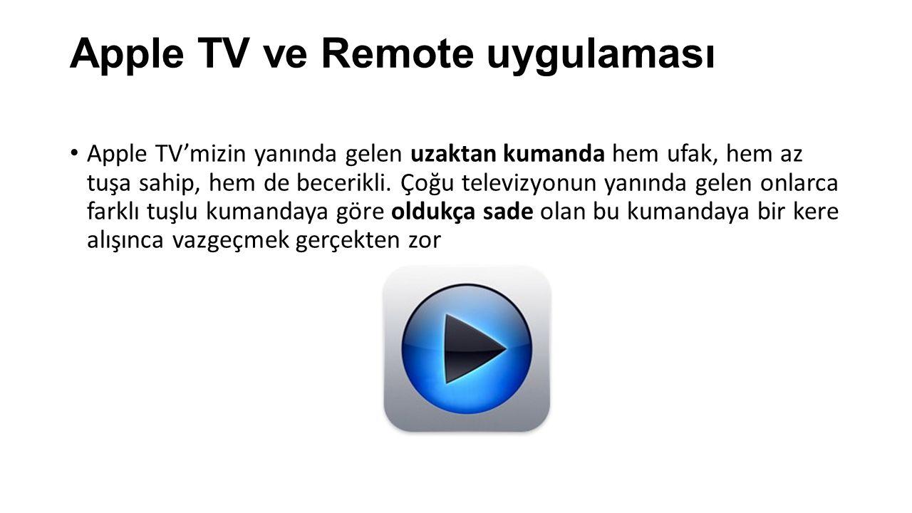 Apple TV ve Remote uygulaması
