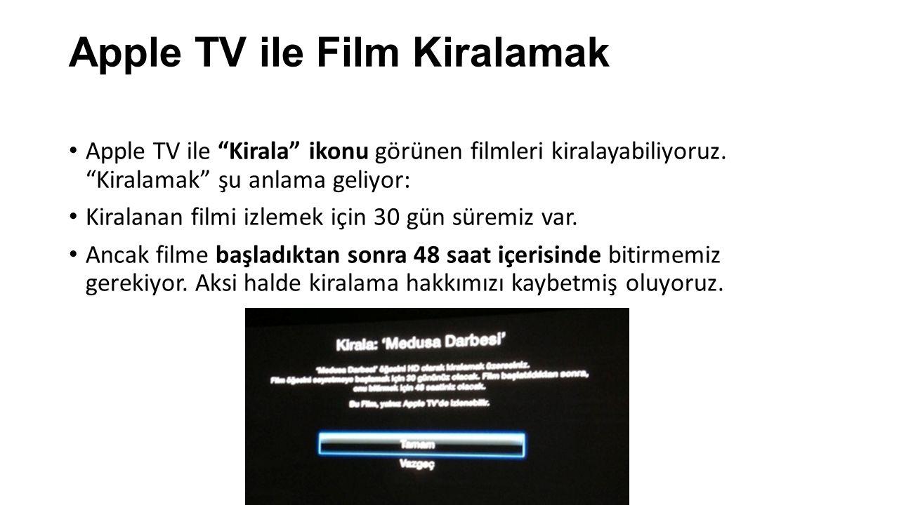 Apple TV ile Film Kiralamak