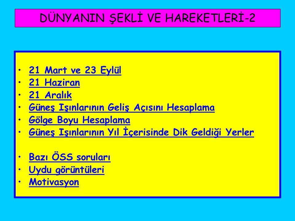 DÜNYANIN ŞEKLİ VE HAREKETLERİ-2