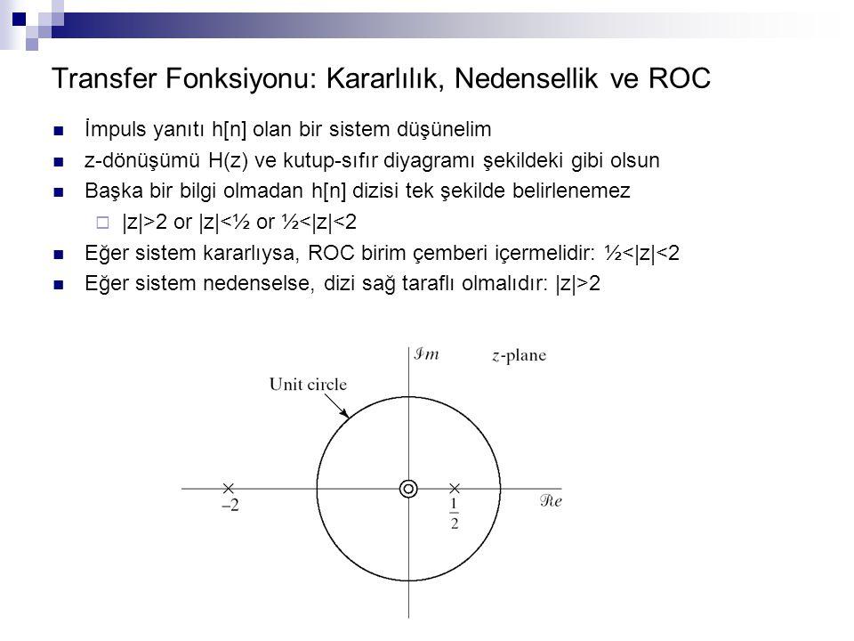 Transfer Fonksiyonu: Kararlılık, Nedensellik ve ROC