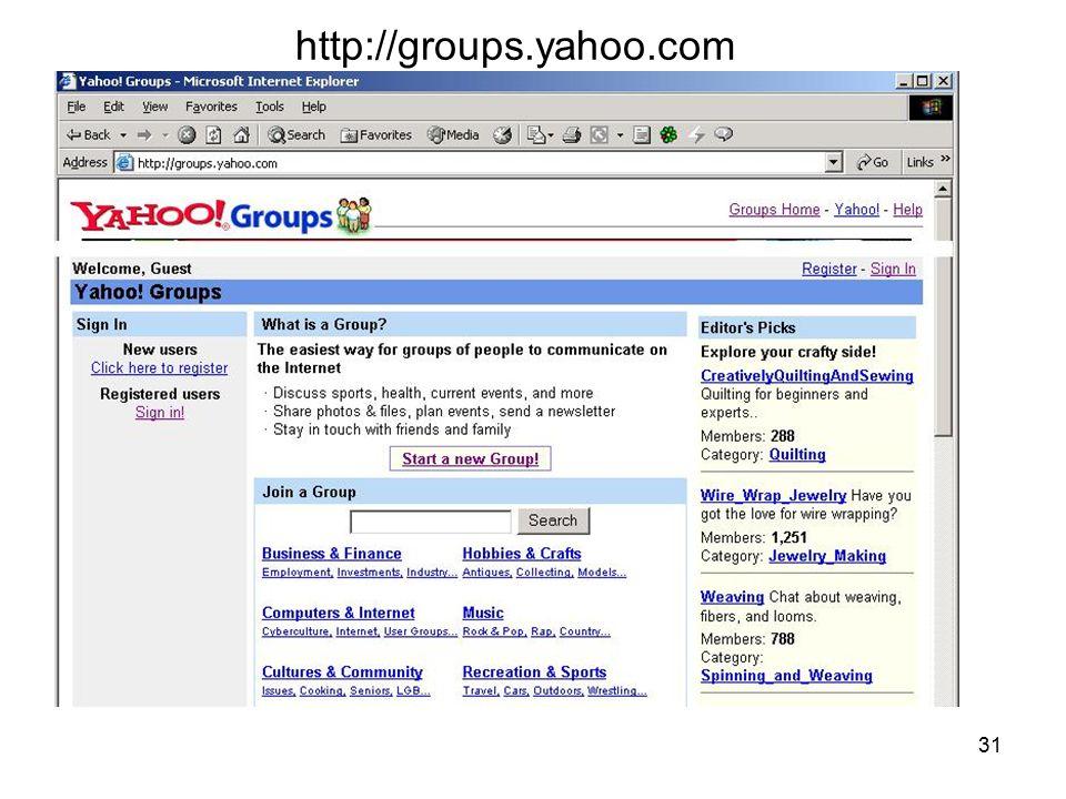 http://groups.yahoo.com