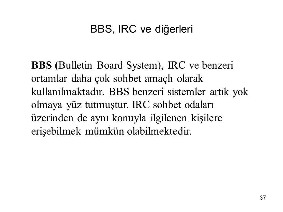 BBS, IRC ve diğerleri
