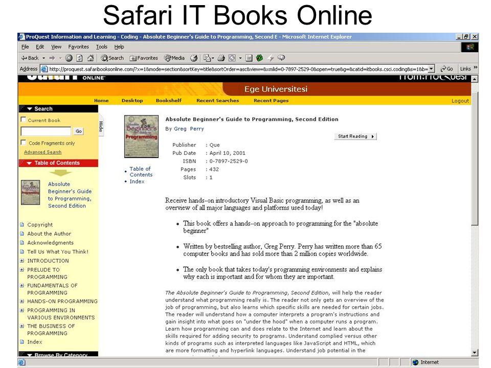 Safari IT Books Online