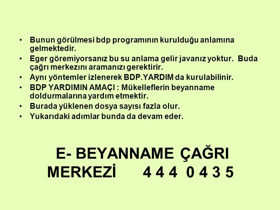 E- BEYANNAME ÇAĞRI MERKEZİ 4 4 4 0 4 3 5