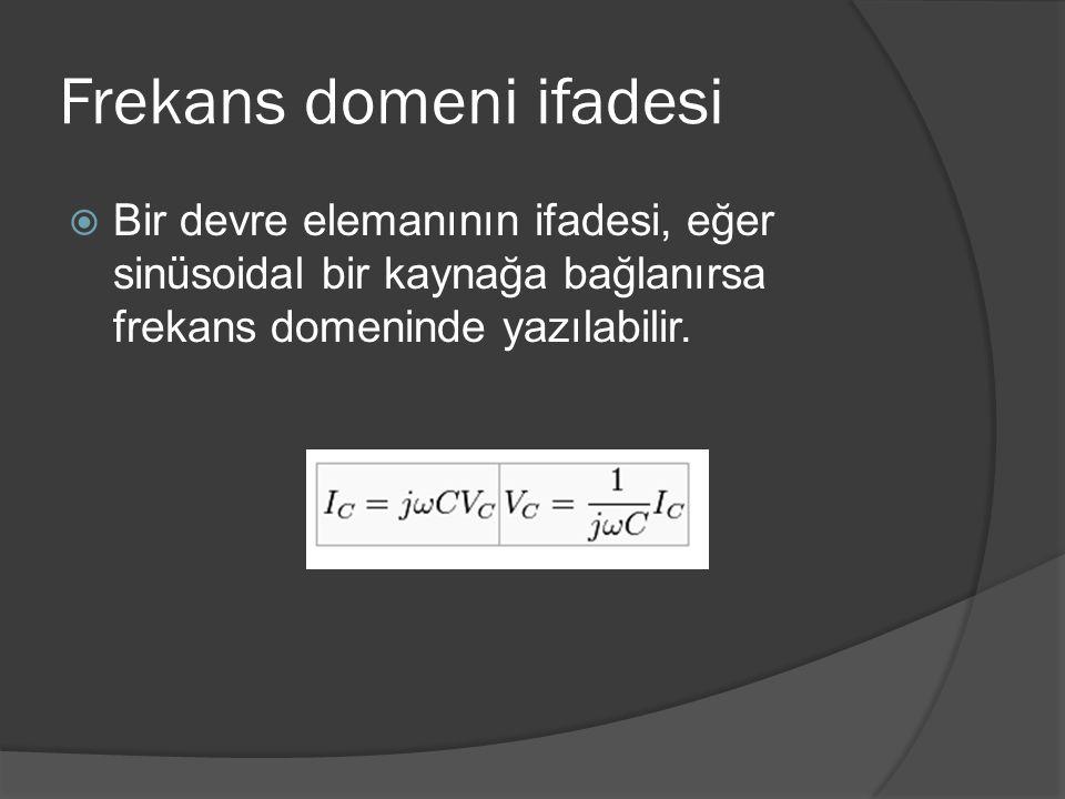 Frekans domeni ifadesi