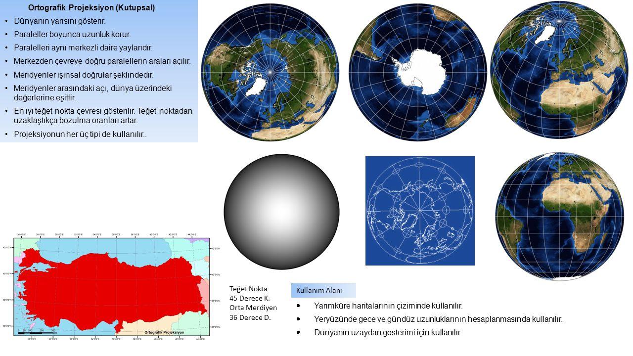 Ortografik Projeksiyon (Kutupsal)