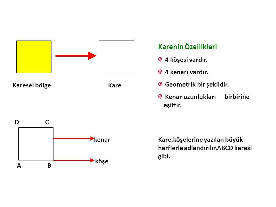 Karenin Özellikleri 4 köşesi vardır. 4 kenarı vardır.