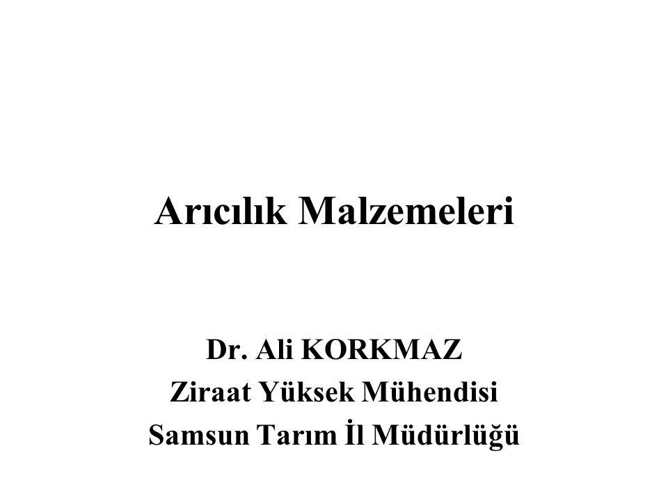 Dr. Ali KORKMAZ Ziraat Yüksek Mühendisi Samsun Tarım İl Müdürlüğü