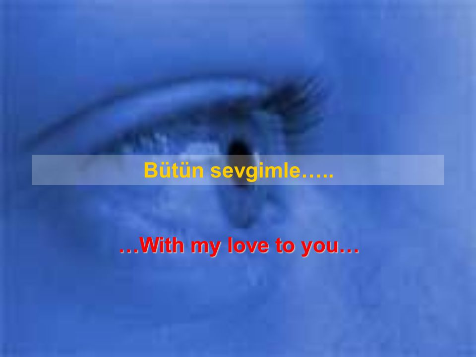 Bütün sevgimle….. …With my love to you…