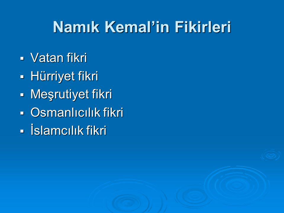 Namık Kemal'in Fikirleri