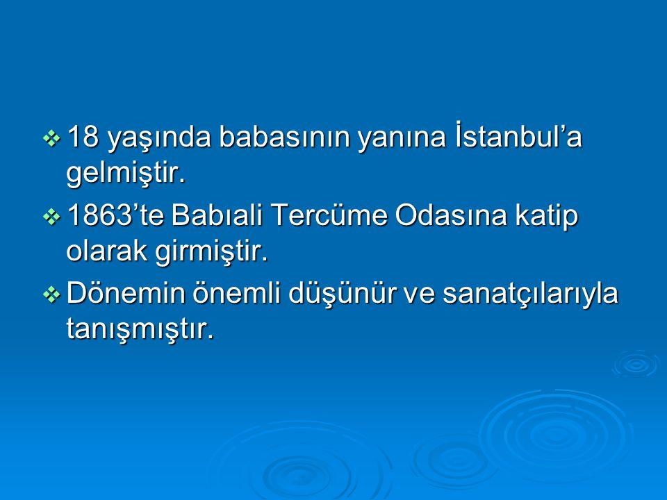 18 yaşında babasının yanına İstanbul'a gelmiştir.