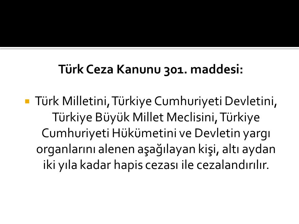 Türk Ceza Kanunu 301. maddesi: