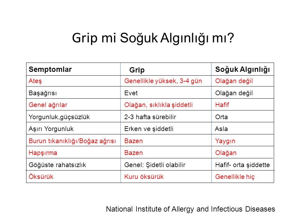 Grip mi Soğuk Algınlığı mı