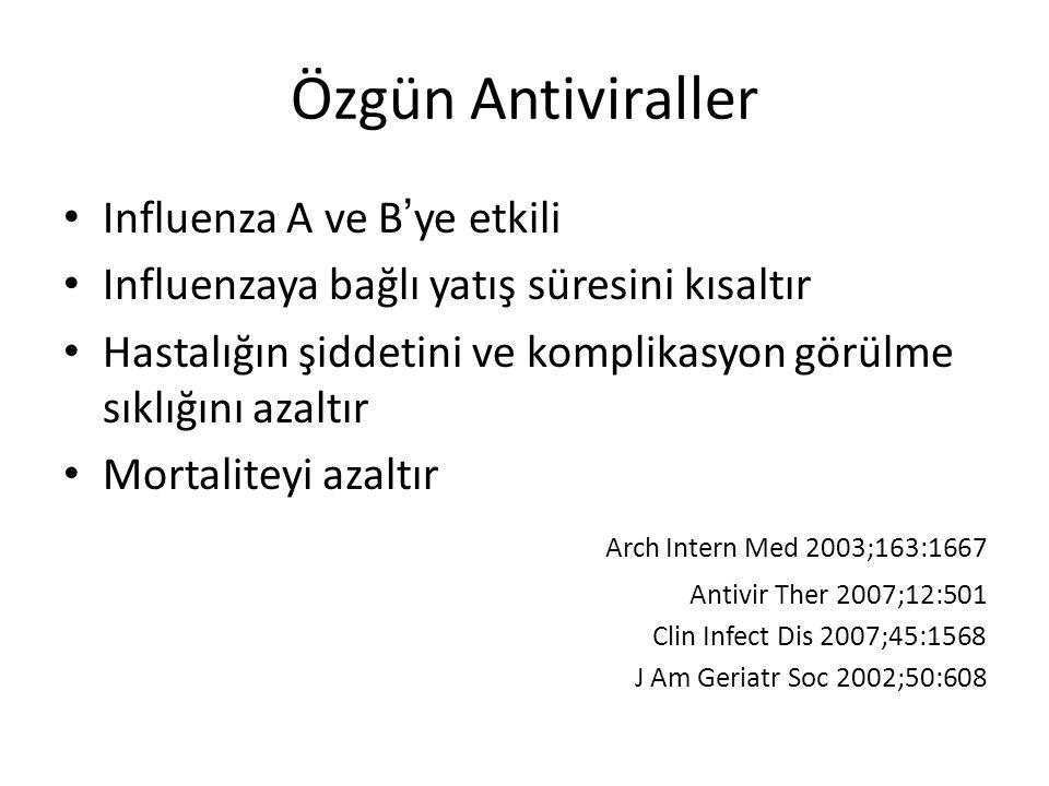 Özgün Antiviraller Influenza A ve B'ye etkili
