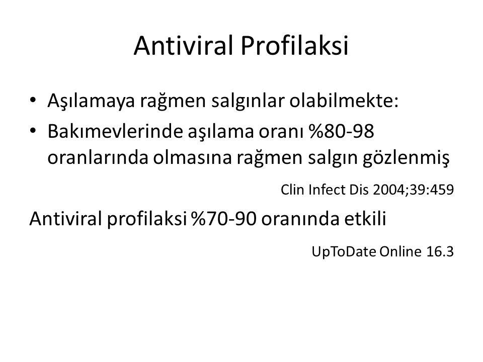 Antiviral Profilaksi Aşılamaya rağmen salgınlar olabilmekte: