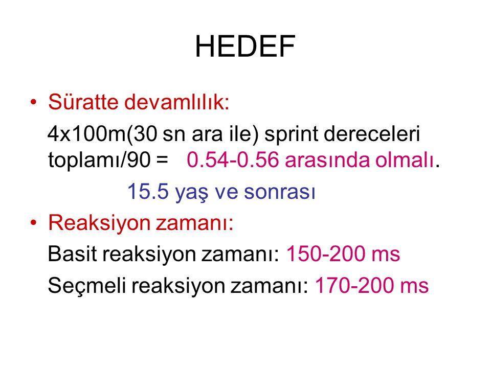 HEDEF Süratte devamlılık: