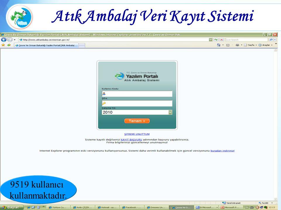 Atık Ambalaj Veri Kayıt Sistemi