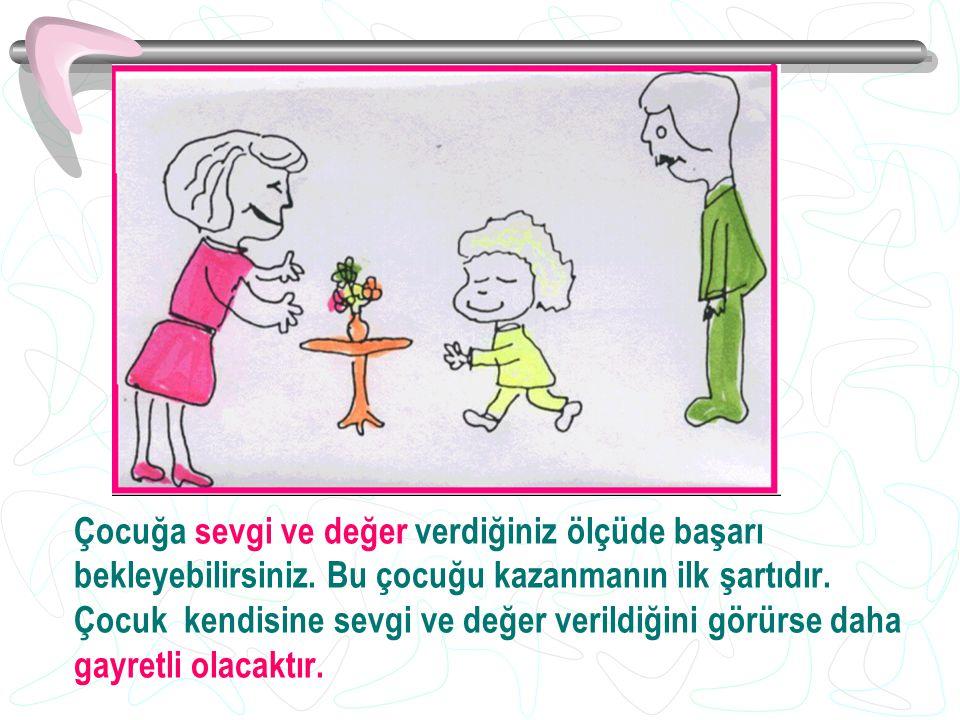 Çocuğa sevgi ve değer verdiğiniz ölçüde başarı bekleyebilirsiniz