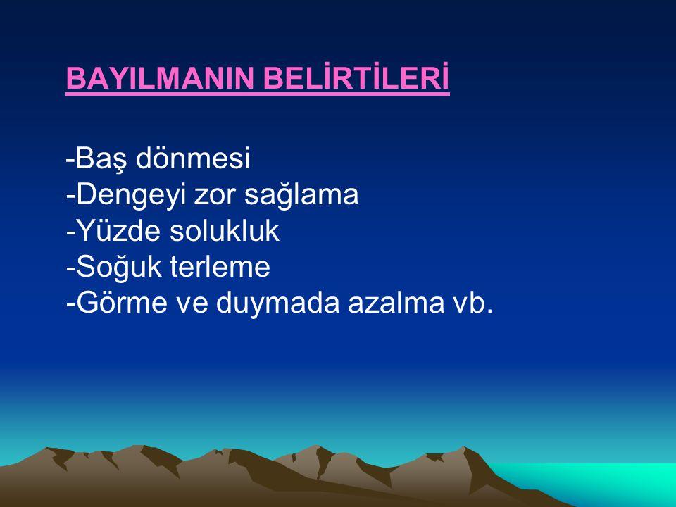 BAYILMANIN BELİRTİLERİ