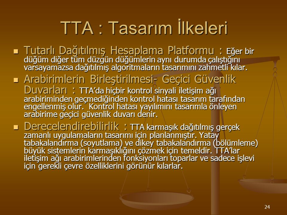 TTA : Tasarım İlkeleri