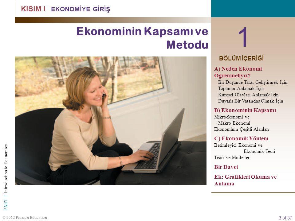 1 Ekonominin Kapsamı ve Metodu KISIM I EKONOMİYE GİRİŞ BÖLÜM İÇERİĞİ