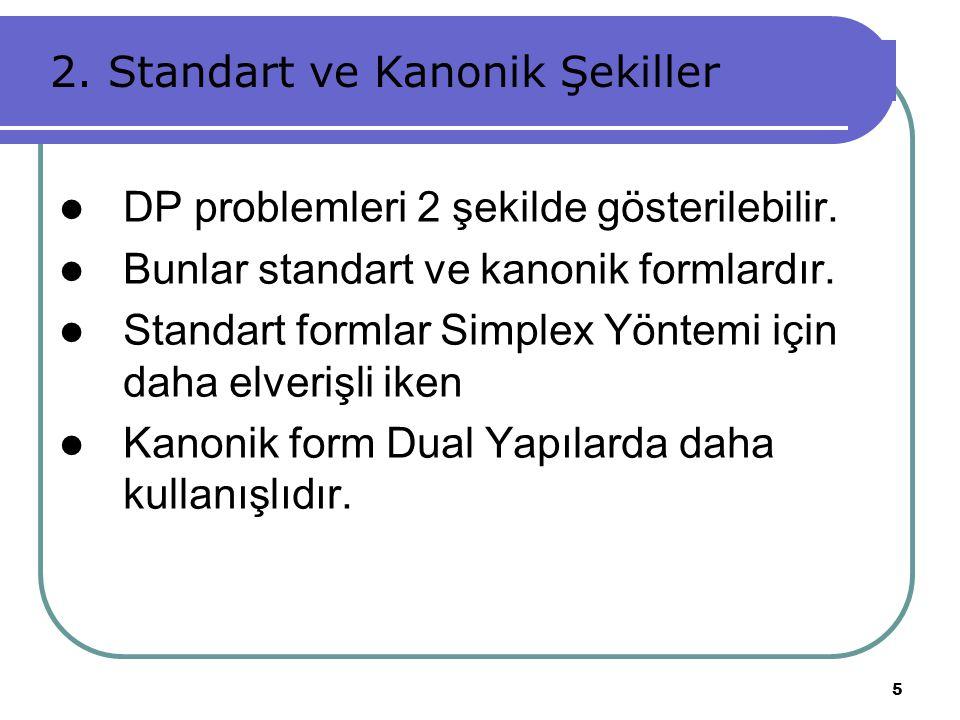 2. Standart ve Kanonik Şekiller