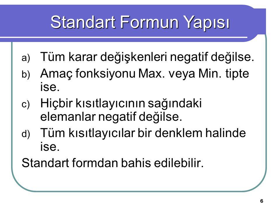 Standart Formun Yapısı